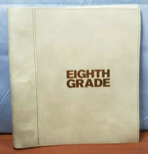 EIGHTH GRADE FYC PROMO Leather Bound SCREENPLAY Script SIGNED BO BURNHAM & ELSIE