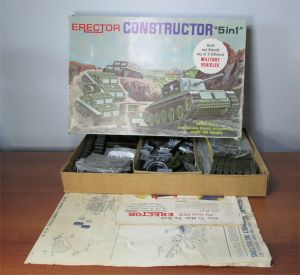 Gilbert Erector Set No 10611 The Constructor Set Military Vehicles 5 in 1