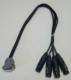 Mogami 3161 AES/EBU 4 Channel Neutrik XLR Female 15 pin D-Sub Audio Cable Snake