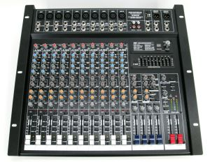 Rack Mount Monoprice 615816 16-Channel Audio Mixer w/ DSP & USB Mixing Console
