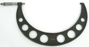 Starrett No 436 10-11 Inch Micrometer Range Ratchet Lock Carbide Measure Tool