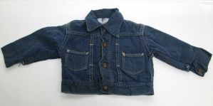 Vintage Kids Toddler Blue Denim Jean Jacket Button Up