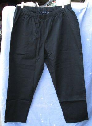 Denim 24/7 Plus Size Women's Pants Elastic Wait Band Black Size 26 WP