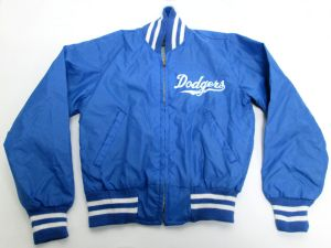 Vintage Kids/Child LA Dodgers Timberline Brill Bros Blue Bomber Jacket Size 10