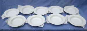 9x Lot Mikasa Fine China K1991 Classic Flair Salad Soup Bowl Plate Calla Lilies