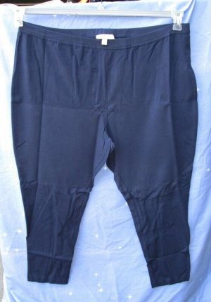 NWT Women Within Navy Blue Stretchy Leggings Pants Size 3x Petite 30/32