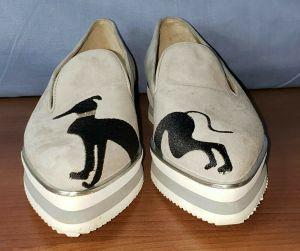 Calzaturificio Susy Italian Grey Suede Loafer Flat Shoes Greyhound 39/EU 8.5/US