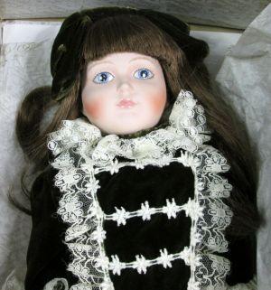 "Franklin Heirloom Emily Centennial Porcelain 15"" Doll In Original Box"