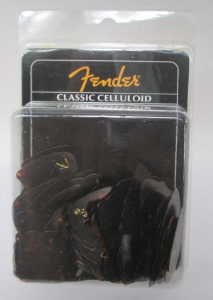 NEW 144 Pack Fender 351 Classic Celluloid Thin Shell Guitar Picks 0980351100