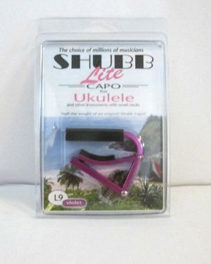 Shubb L9 Violet Lite Lightweight Capo For Ukulele & Small Neck Instruments NEW