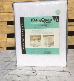 The Folding Table Cloth Duo Pack Of 2 Fits 6ft. Folding Tables