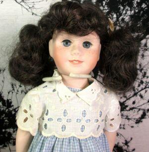 "Vintage Mattel 1981 Chatty Cathy Porcelain Talking Doll Blue Dress 20"""