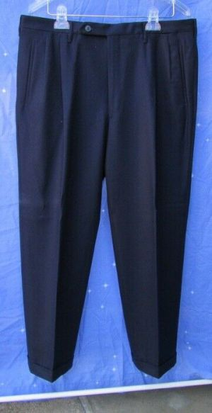 Carroll & Co. Suit Pants Slacks Trousers Dress Pants Navy Wool Fully Lined