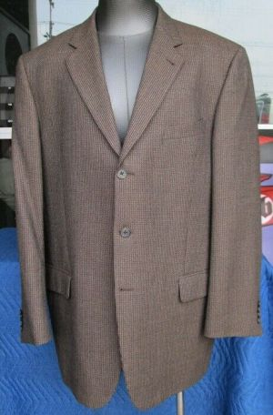 Joseph Abboud Suit Blazer Jacket Sport Coat Brown 48R Fully Lined