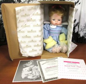 The Ashton Drake Galleries Hannah Needs a Hug Porcelain Doll 14""