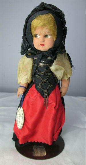"Vintage Comolli Lugano Bern 7.5"" Doll Made in Switzerland"