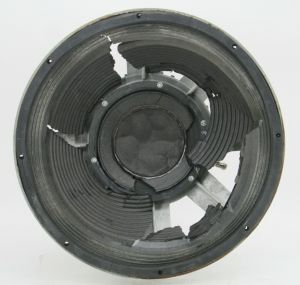 "Vintage GAUSS 4580 15"" inch Loud Speaker 8-Ohm Woofer – BASKET ONLY"