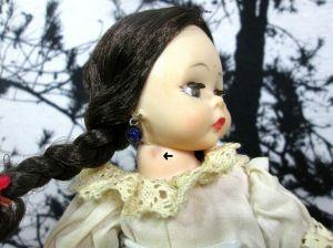 "Vintage Madame Alexander Israeli 768 Doll Bent Knee 7"" inch in Original Box"
