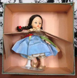 "Vintage Madame Alexander Israeli 768 Doll Bent Knee 7"" inch in Original Box"