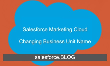 Impact of changing SFMC Business Unit name on Salesforce org