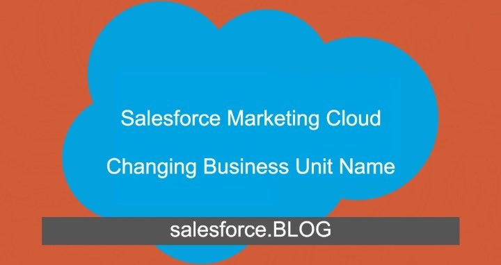 impact of changing business unit name on sales cloud