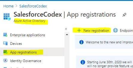 Salesforce App Registration in Azure - SalesforceCodex