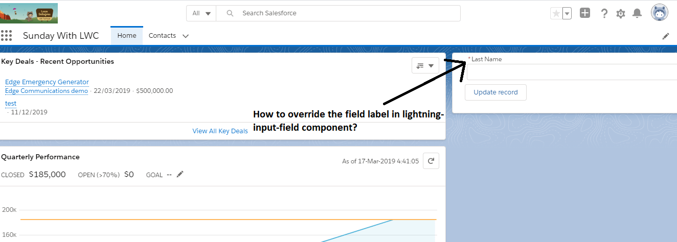 How to override Lightning Input Field label in Lightning Web Component?
