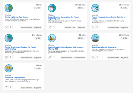 Pardot Trailhead Modules 2