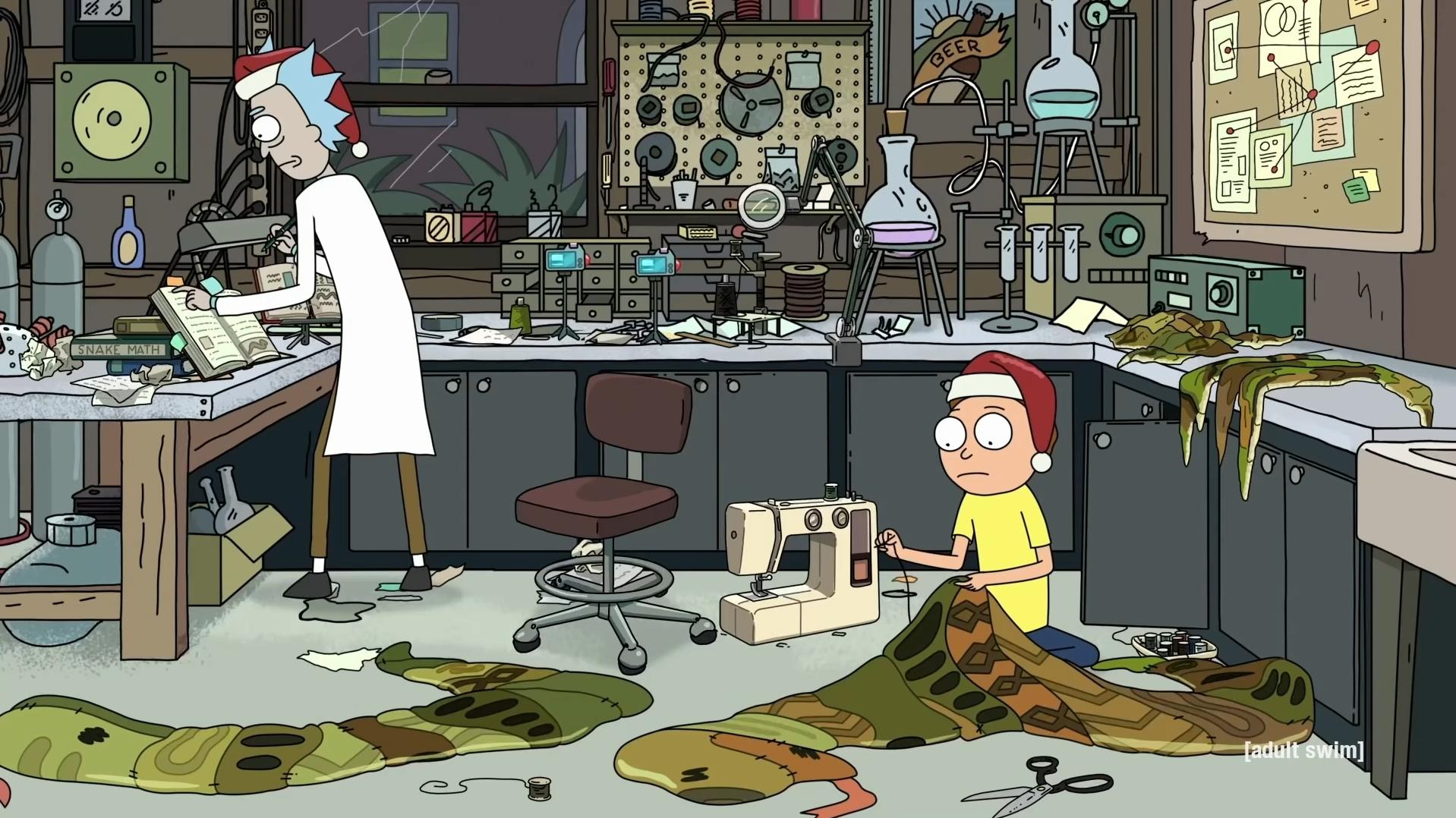 Rick and Morty snake jazz