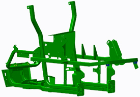 High-strength, tubular steel frame