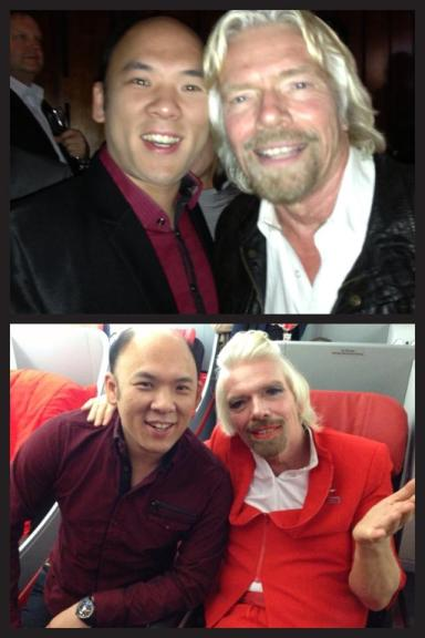 Richard Branson On Air Asia with Grandmaster
