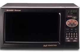 sharp r 820bk microwave convection oven 0 9 cu ft 900w carousel turntable system 12 diameter