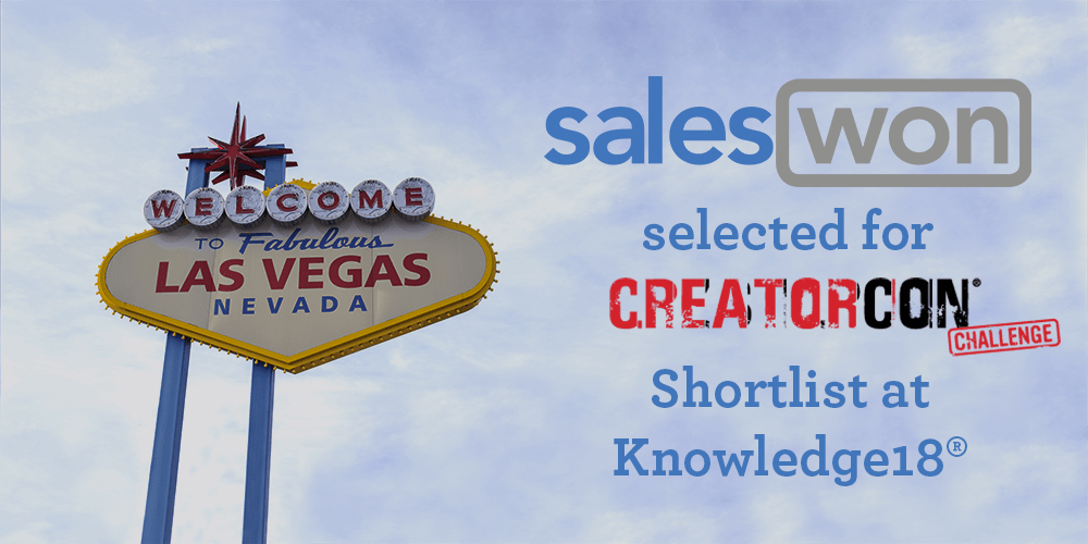 SalesWon Selected for CreatorCon Shortlist