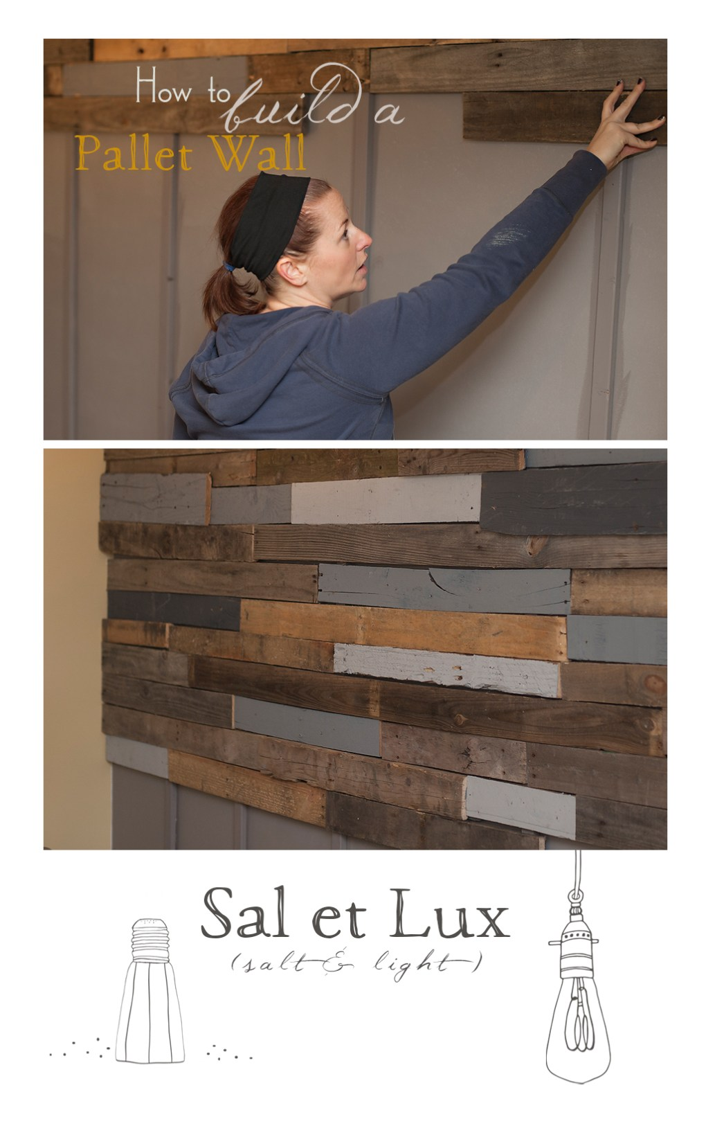 how to build a pallet wall
