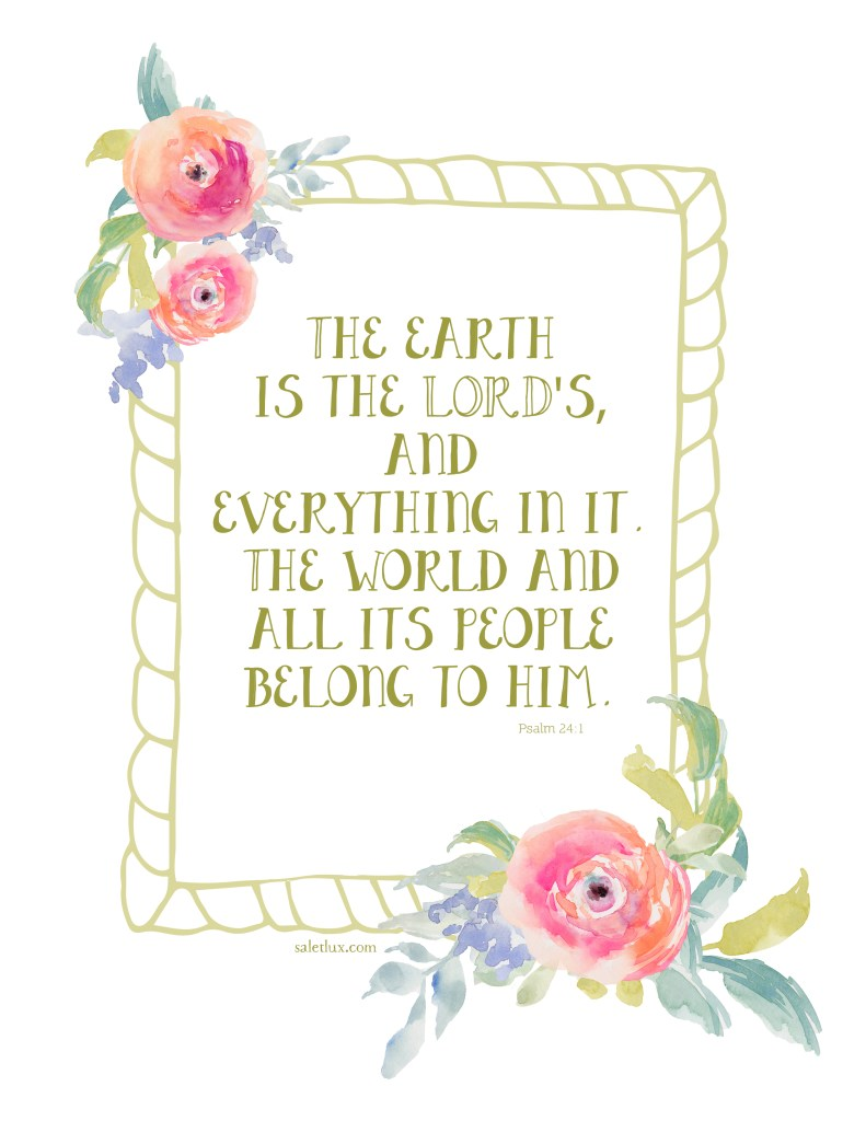 Free Watercolor Scripture Printable