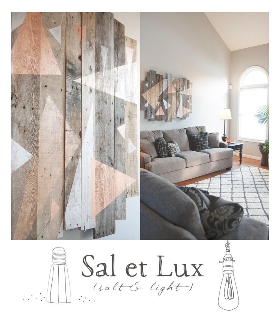 Geometric Pallet Wall Art