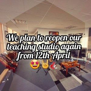 🎸We plan to reopen again from 12th April!