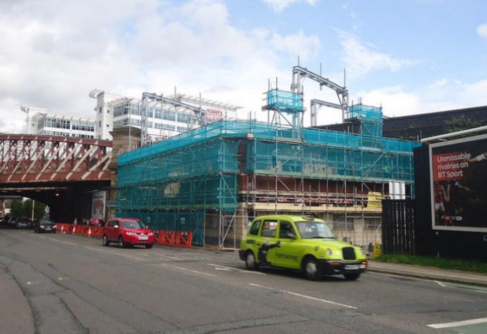 The Albert Vaults under demolition in 2012, by Matt Doran