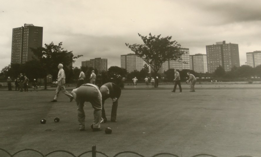 The bowling green in 1966 - © Salford Local History Library