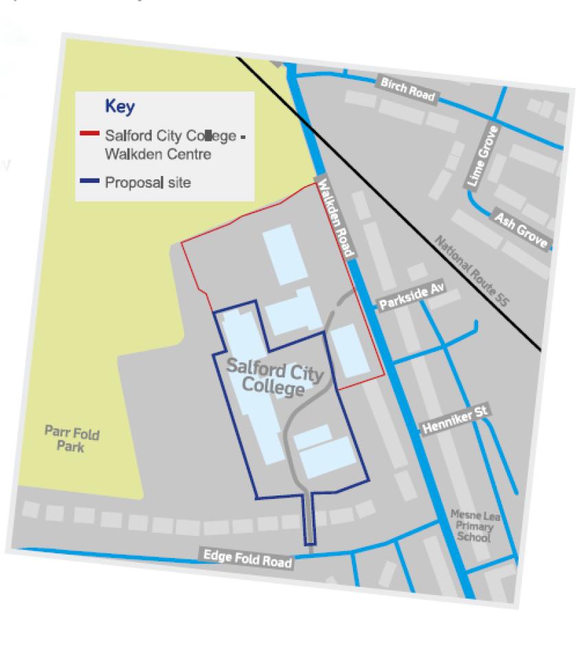 Walkden college 24 homes demolition plan