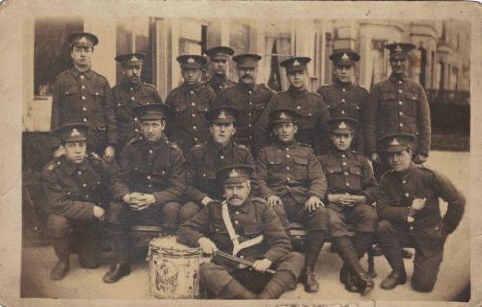 First World war troops regiment unknown