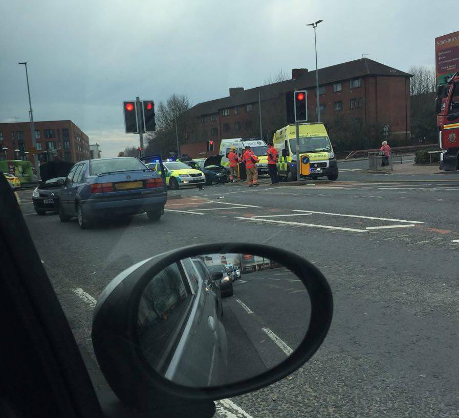 Crash Regent Road A57 Salford Sunday 3 April2