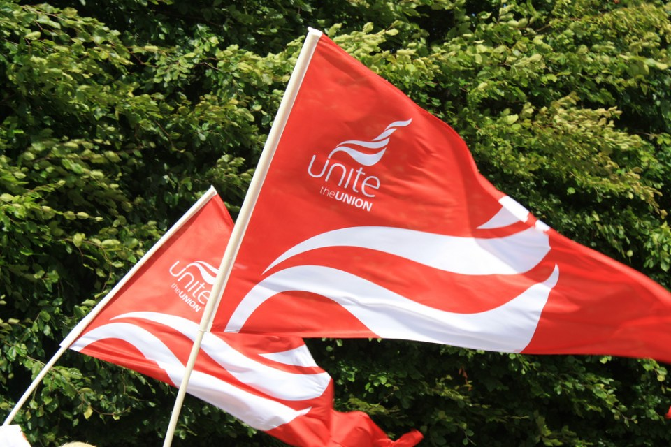 Bus drivers who are members of Unite strike today