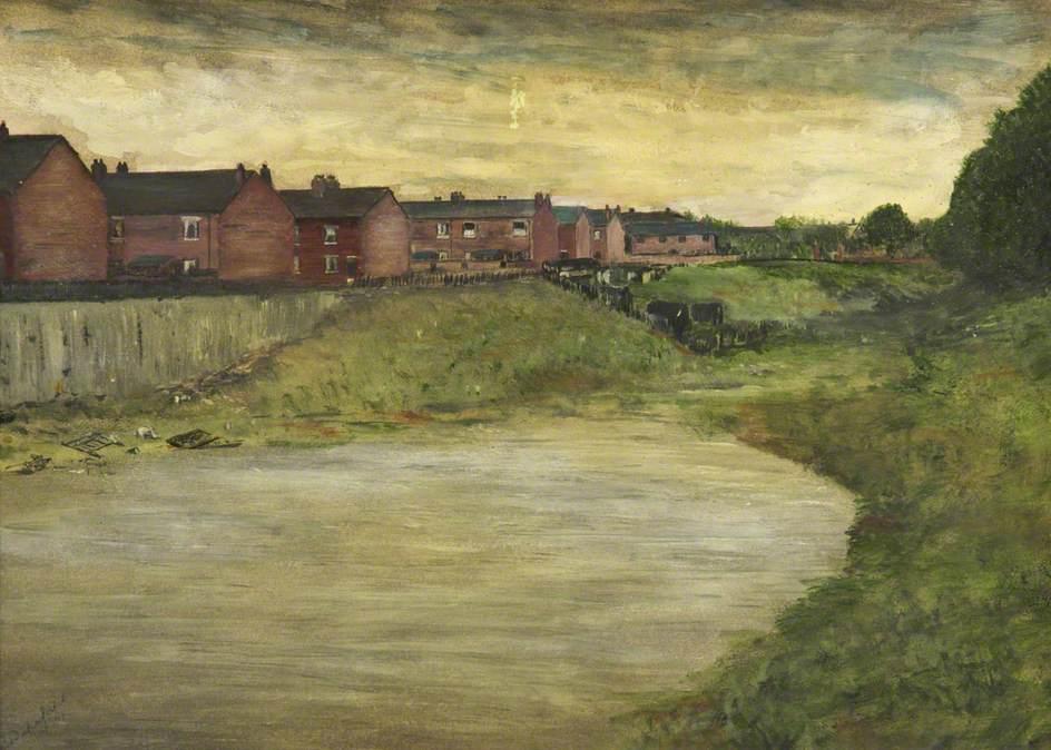 Eccles Bleach Works Reservoir - by Bernard Wakefield, Salford Museum & Art Gallery