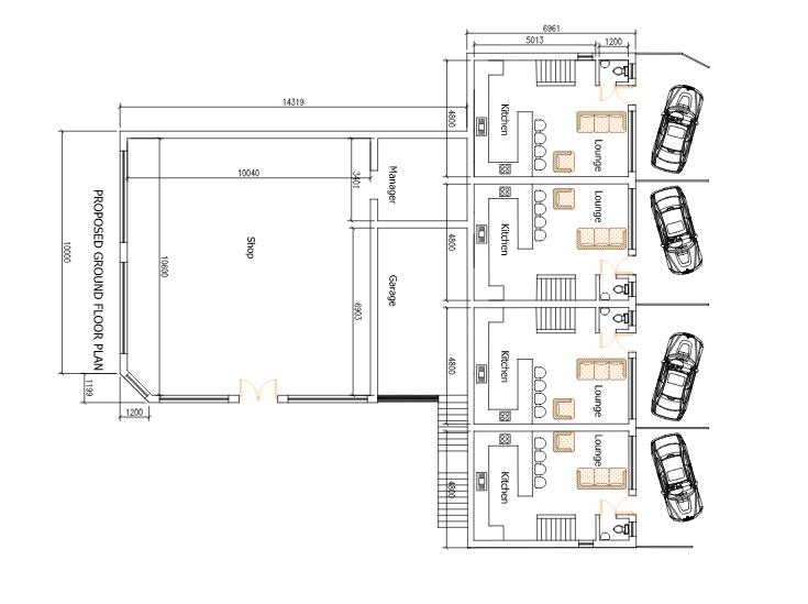 Carlton Inn townhouses plan