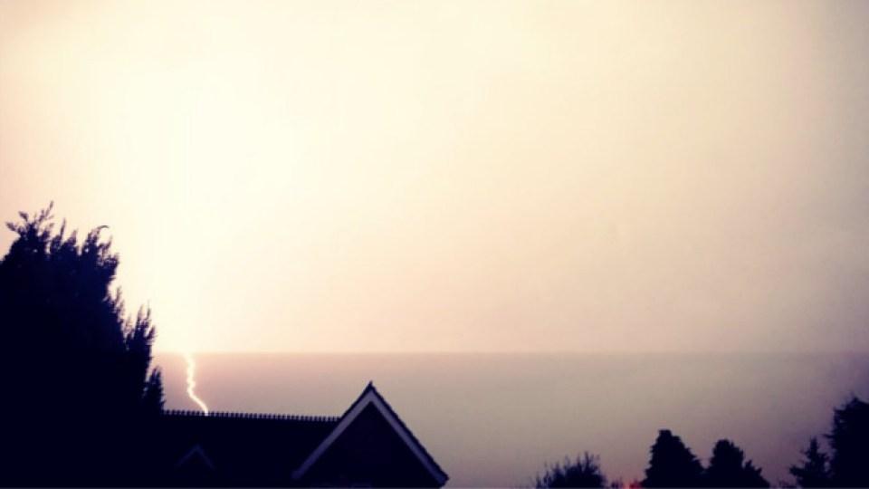 Lightning over Weaste - By Louise Woodward Styles