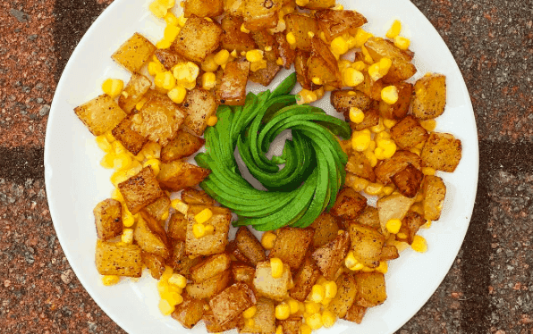 Potato Corn Hash w/Avocado