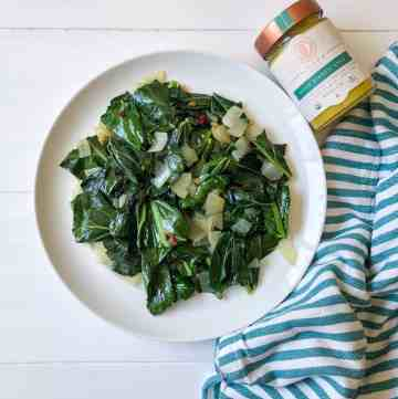 Ethiopian Collard Greens with Niter Kibbeh Ghee