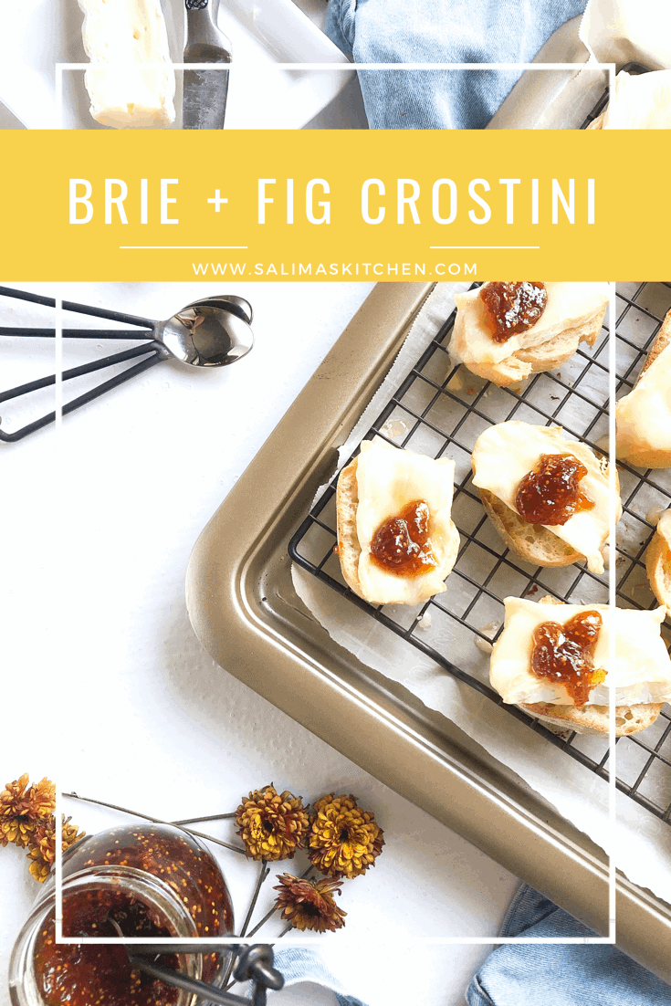 Crostini with Brie Cheese and Fig Jam