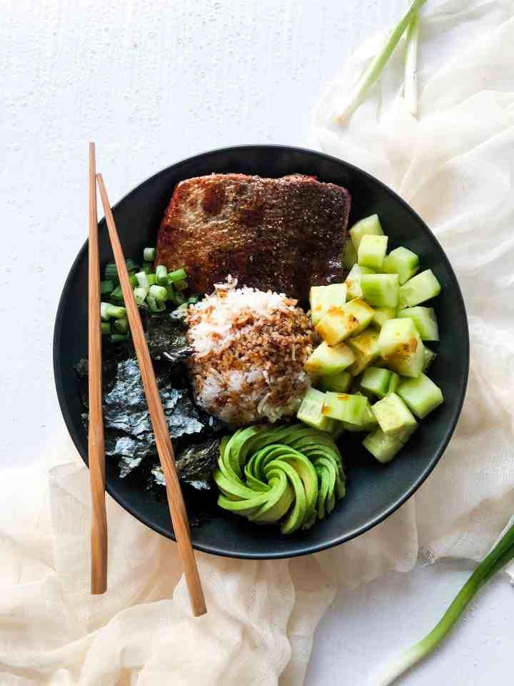 Seared Salmon Sushi Bowls